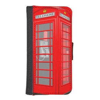 Caja inglesa roja de la cartera del iPhone 5S de Funda Tipo Billetera Para iPhone 5