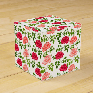 Caja inglesa rosada del favor de los rosas de té caja para regalo de boda