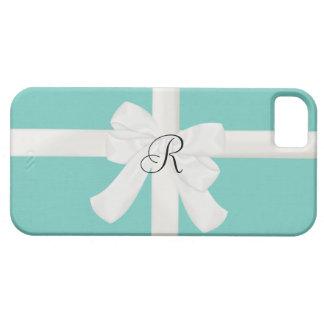 Caja inicial de encargo azul del iPhone del huevo Funda Para iPhone 5 Barely There