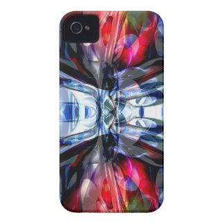 Caja intrépida abstracta de Blackberry de la iPhone 4 Case-Mate Protectores