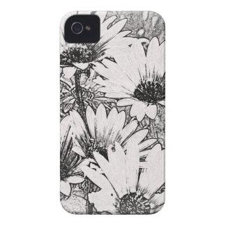 Caja intrépida blanco y negro de Blackberry del Case-Mate iPhone 4 Coberturas
