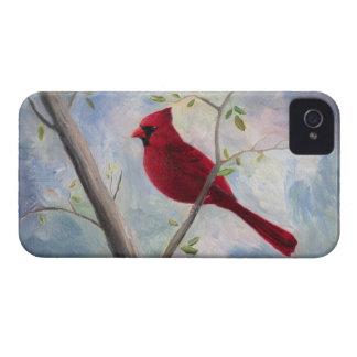 Caja intrépida cardinal de Blackberry Case-Mate iPhone 4 Fundas