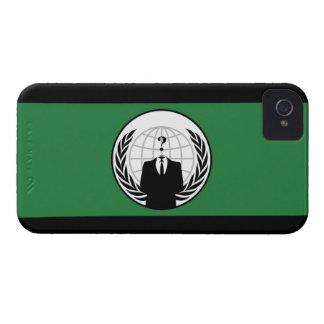 Caja intrépida de Blackberry de la bandera anónima iPhone 4 Fundas