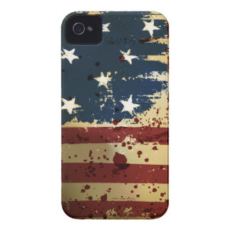 Caja intrépida de Blackberry de la bandera de iPhone 4 Carcasa