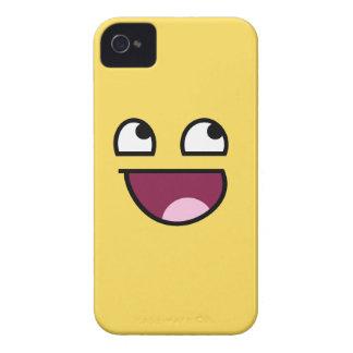 Caja intrépida de Blackberry de la cara impresiona Case-Mate iPhone 4 Protectores
