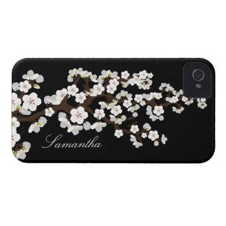 Caja intrépida de Blackberry de la flor de cerezo Case-Mate iPhone 4 Cobertura
