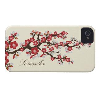 Caja intrépida de Blackberry de la flor de cerezo iPhone 4 Coberturas