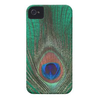 Caja intrépida de Blackberry de la pluma verde del iPhone 4 Case-Mate Cobertura