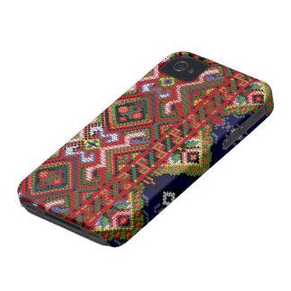 Caja intrépida de Blackberry de la puntada cruzada Funda Para iPhone 4 De Case-Mate