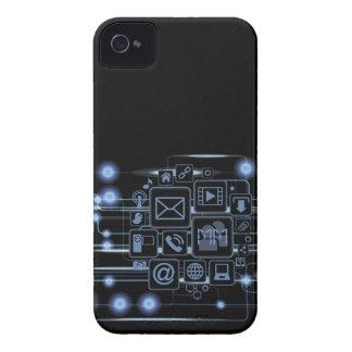 Caja intrépida de Blackberry de las iniciales de a