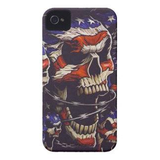 Caja intrépida de Blackberry de los cráneos iPhone 4 Case-Mate Carcasa