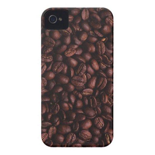 Caja intrépida de Blackberry de los granos de café Carcasa Para iPhone 4 De Case-Mate