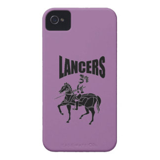Caja intrépida de Blackberry de los LANCEROS Case-Mate iPhone 4 Cárcasas