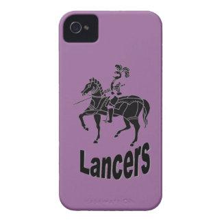 Caja intrépida de Blackberry de los LANCEROS iPhone 4 Case-Mate Carcasa