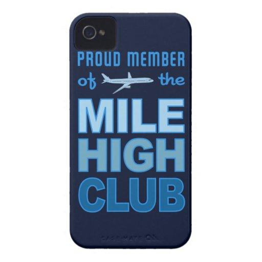 Caja intrépida de Blackberry del alto club de la Case-Mate iPhone 4 Protectores