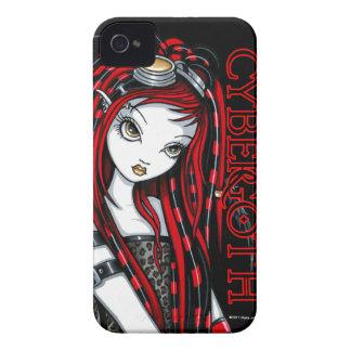 """Caja intrépida de Blackberry del ángel rojo """"carme iPhone 4 Case-Mate Cárcasas"""