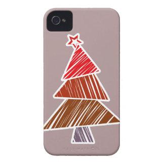Caja intrépida de Blackberry del árbol de navidad Carcasa Para iPhone 4