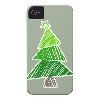 Caja intrépida de Blackberry del árbol de navidad Carcasa Para iPhone 4 De Case-Mate