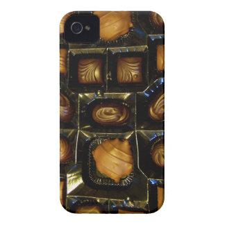 Caja intrépida de Blackberry del chocolate iPhone 4 Case-Mate Fundas