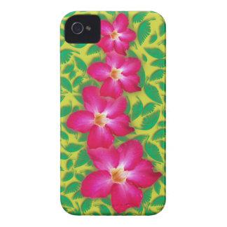 Caja intrépida de Blackberry del collage del rosa Case-Mate iPhone 4 Funda