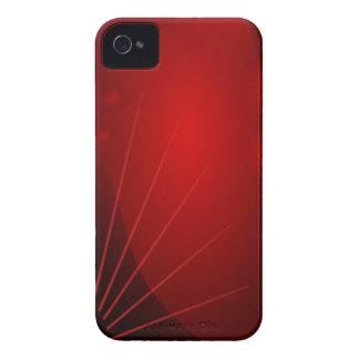 Caja intrépida de Blackberry del diseño rojo iPhone 4 Case-Mate Protector