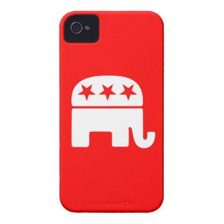 Caja intrépida de Blackberry del elefante Case-Mate iPhone 4 Fundas