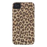 Caja intrépida de Blackberry del estampado leopard