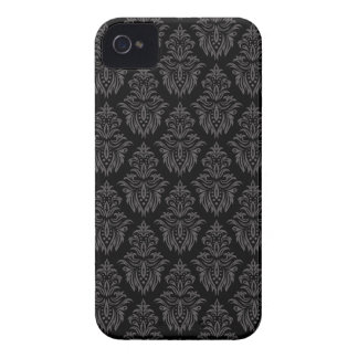 Caja intrépida de Blackberry del modelo gris y iPhone 4 Carcasas