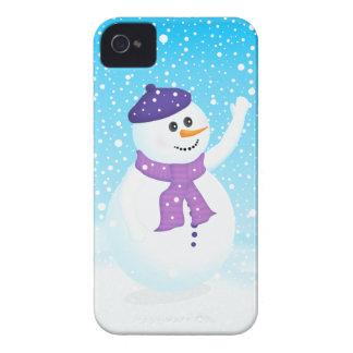 Caja intrépida de Blackberry del muñeco de nieve f Case-Mate iPhone 4 Cárcasa