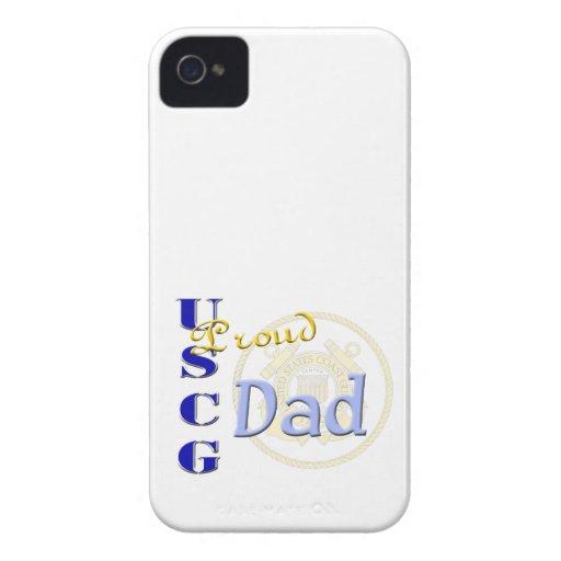 Caja intrépida de Blackberry del papá orgulloso de iPhone 4 Case-Mate Cárcasa