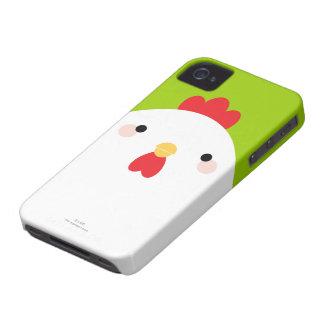 Caja intrépida de Blackberry del pollo blanco Case-Mate iPhone 4 Carcasas