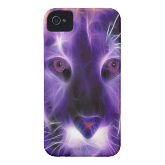 Caja intrépida de Blackberry del relámpago púrpura iPhone 4 Fundas