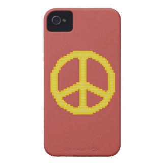 Caja intrépida de Blackberry del signo de la paz iPhone 4 Case-Mate Cobertura