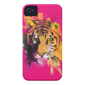 Caja intrépida de Blackberry del tigre de la iPhone 4 Case-Mate Coberturas