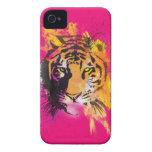 Caja intrépida de Blackberry del tigre de la pinta iPhone 4 Carcasas