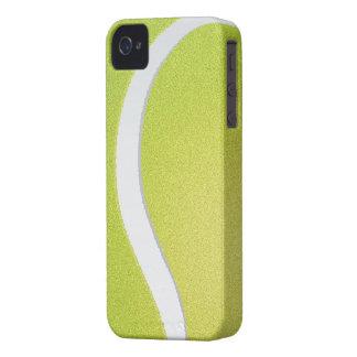 Caja intrépida de Blackberry - pelota de tenis iPhone 4 Protectores