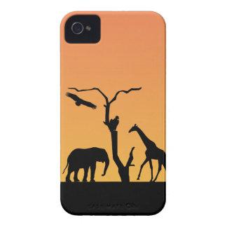 Caja intrépida de la zarzamora de la puesta del iPhone 4 Case-Mate protectores
