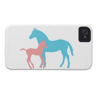 Caja intrépida de la zarzamora de la silueta del funda para iPhone 4