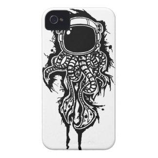 caja intrépida de la zarzamora del calamar del funda para iPhone 4 de Case-Mate