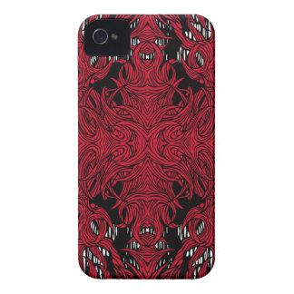 caja intrépida de la zarzamora roja del monstruo funda para iPhone 4