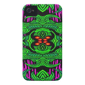 caja intrépida de la zarzamora verde del monstruo funda para iPhone 4