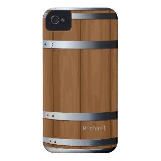 Caja intrépida de madera retra de Blackberry del Case-Mate iPhone 4 Fundas