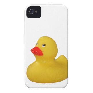 Caja intrépida del pato del amarillo de la zarzamo iPhone 4 Case-Mate cobertura