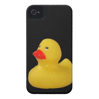 Caja intrépida del pato del amarillo de la zarzamo iPhone 4 Case-Mate protector