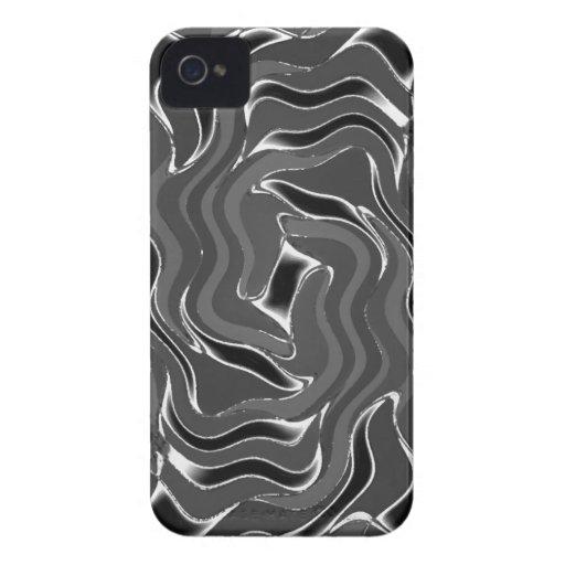 Caja intrépida gris de Blackberry del diseñador en Case-Mate iPhone 4 Protector