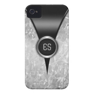 Caja intrépida negra retra de Blackberry Carcasa Para iPhone 4 De Case-Mate