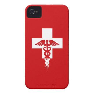 Caja intrépida profesional médica de encargo de Bl iPhone 4 Fundas