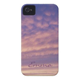 Caja intrépida rosada y púrpura personalizada de funda para iPhone 4