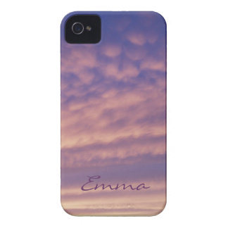 Caja intrépida rosada y púrpura personalizada de iPhone 4 fundas