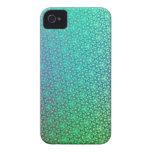 Caja intrépida verde de lujo de Blackberry iPhone 4 Carcasas